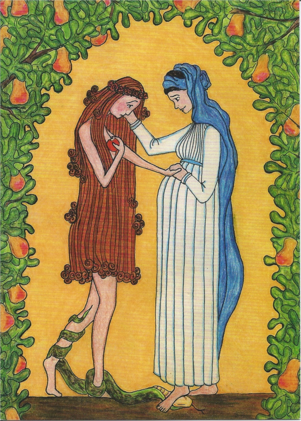 Mary & Eve, Sr Grace Remington OCSO
