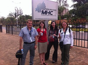 The 2013 Egan Journalism Fellows at the Media High Council in Kigali, Rwanda.  Credit: Photo by Kim Pozniak/CRS