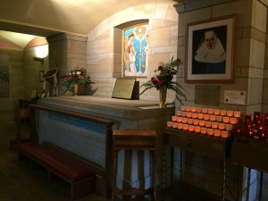 A view of St Katharine Drexel's tomb.